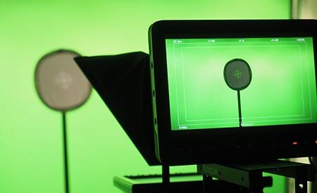 Greenscreen-Studio der neokom.tv Video- und E-Learning-Agentur